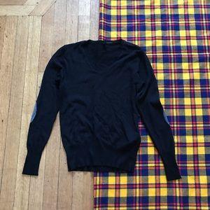 Stile Benetton Black V-Neck Long Sleeve Sweater